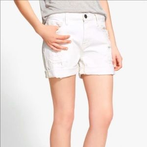 CURRENT ELLIOTT The slouchy Cut Off White Shorts